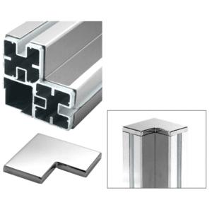 CRL BPL1PSC Polished Stainless 90 Corner Barrier Post Kit - Custom Height