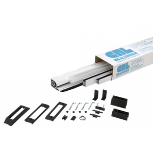 "CRL RDS96W White 96"" Euro Retractable Screen Door Kit"