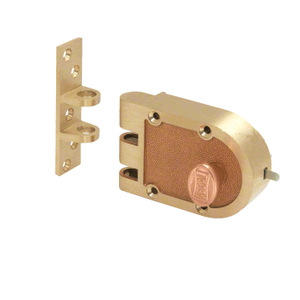 CRL SE15326 Brushed Brass Segal Dead Bolt Lock