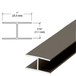 "CRL WSHB7BRZ Bronze 7/16"" Extruded Aluminum Splicing Bar - 12' Length"
