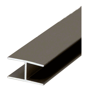 "Bronze 7/16"" Extruded Aluminum Splicing Bar - 12' Length"
