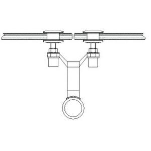 """CRL AMS0B134CBS Brushed Stainless 1-3/4"""" Diameter Spider Fitting Post adaptor- Custom Length"""