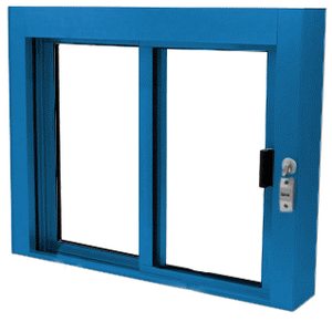 Powder Painted Bullet Resistant Level 1 Exterior Manual Sliding Service Window
