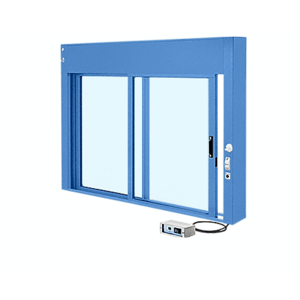 CRL EDW1802P Powder Painted (Specify) Custom Size All Electric Fully Automatic Deluxe Sliding Service Window XO or OX with Aluminum Full Bottom Track