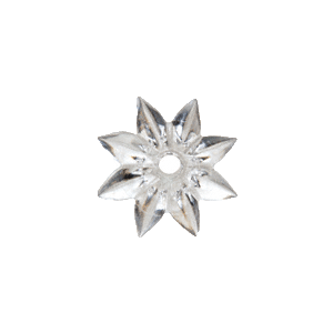 "CRL F120-XCP100 CRL Clear 1"" Plastic Star Rosettes - pack of 100"