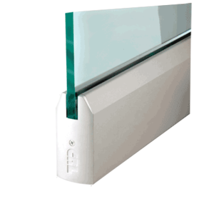 """CRL DR4TSA12S Satin Anodized 1/2"""" Glass 4"""" Tapered Door Rail Without Lock - 35-3/4"""" Length"""