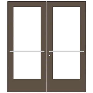 CRL-U.S. Aluminum CD52722 Bronze Black Anodized Custom Pair Series 550 Wide Stile Center Pivot Entrance Door for Overhead Concealed Door Closers