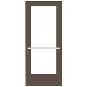 CRL-U.S. Aluminum DE51722 Bronze Black Anodized Custom Single Series 550 Wide Stile Center Pivot Entrance Door for Overhead Concealed Door Closer