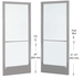 CRL-U.S. Aluminum CD22711 Clear Anodized Custom Pair Series 250 Narrow Stile Center Pivot Entrance Doors for Overhead Concealed Door Closers