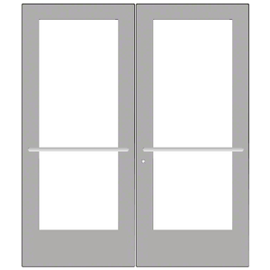 CRL-U.S. Aluminum CD52711 Clear Anodized Custom Pair Series 550 Wide Stile Center Pivot Entrance Door for Overhead Concealed Door Closers