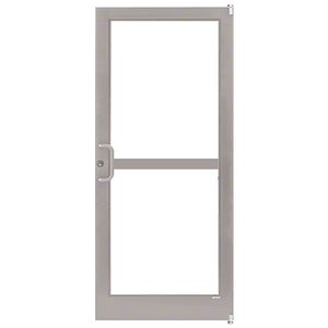 Clear Anodized Class 1 Custom Single Series 400T Thermal Medium Stile Offset Pivot Entrance Door With Panic for Surface Mount Door Closer