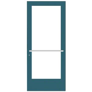 CRL-U.S. Aluminum DE41771 Custom KYNAR Paint Custom Single Series 400 Medium Stile Center Pivot Entrance Door for Overhead Concealed Door Closer
