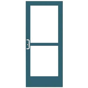 CRL-U.S. Aluminum CZ41771 Custom KYNAR Paint Custom Single Series 400 Medium Stile Center Pivot Entrance Door With Panic for Overhead Concealed Door Closer
