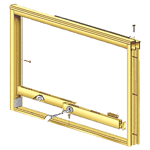 CRL D3278BGA Brite Gold Anodized Wood End Showcase Track Assembly With Radius Rear Track