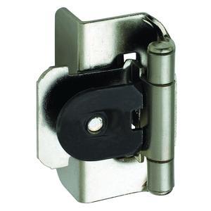 "Amerock CM8704G9 Sterling Nickel Double Demountable Cabinet Hinges 1/2"" Overlay"