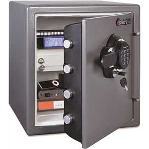 SentrySafe SENSFW123GDC 1.23 cu. ft. Fire and Water Resistant Safe with Electronic Lock, Gunmetal Gray