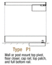 """CRL SG25P1BS25C Brushed Stainless P1 Series Gate Standard Rail 2.5"""" Post Mount With 2.5"""" Cap"""