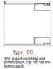 CRL SGP6C Post Mount Swinging Gate with Top and Bottom Pivot Plus Cap Rail, Top and Bottom Patch