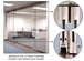 CRL 0TS24PS Polished Stainless 4-Panel Overhead Double Track Sliding Door System