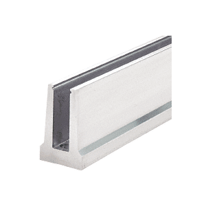 CRL B5T20D Mill Aluminum Tapered Base Shoe Drilled with Hole Pattern D in a 20' Length