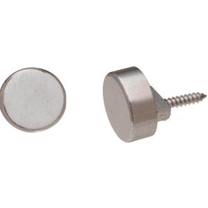 CRL MC02BN Brushed Nickel Round Mirror Clip Set