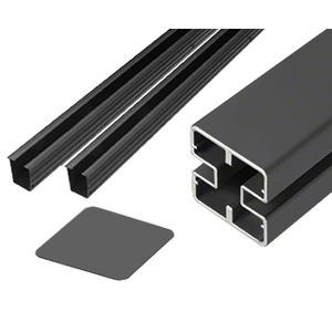 """CRL HD48CKBL Matte Black Heavy-Duty Windscreen Post Kit - 48"""""""