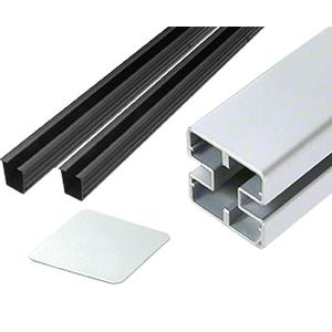 """CRL HD72CKS Metallic Silver Heavy-Duty Windscreen Post Kit - 72"""""""