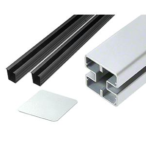 """CRL HD48CKS Metallic Silver Heavy-Duty Windscreen Post Kit - 48"""""""