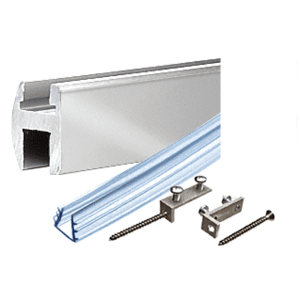 CRL SDH980BA Brite Anodized Deluxe Shower Door Header Kit - 95""