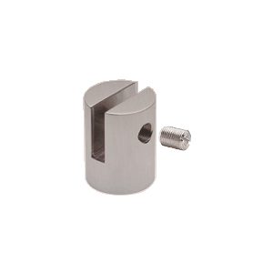 "CRL SM38BS Brushed Stainless Slot Mount Standoff for 3/8"" Panels"