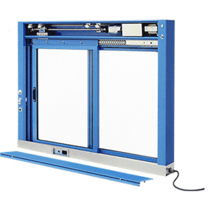CRL EDW1803K KYNAR Painted (Specify) Custom Size All Electric Fully Automatic Deluxe Sliding Service Window XO or OX With Stainless Steel Sill