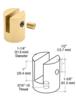 """CRL SM14BR Brass Slot Mount Standoff for 1/4"""" Panels"""