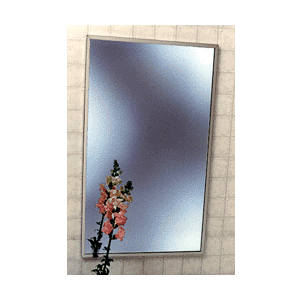 """CRL 1001824 Stainless Steel 18-1/4"""" x 24-1/4"""" Standard Channel Theft-Proof Framed Mirror"""