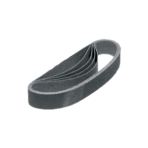"CRL CRL118X21180X 1-1/8"" x 21"" 180X Grit Glass Grinding Belt for Portable Sanders - 10/Bx"
