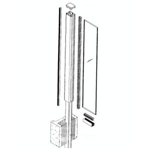 CRL AWS500C AWS Rectangular Standard Aluminum Windscreen System