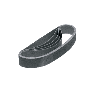 "CRL CRL118X2180X 1-1/8"" x 21"" 80X Grit Glass Grinding Belt for Portable Sanders - 10/Bx"