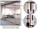CRL 0TS1BS Brushed Stainless Overhead Track Sliding Door System