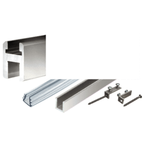 CRL SQH980BA Brite Anodized Flat/Flat Profile Deluxe Shower Door Header Kit - 95""