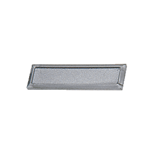 CRL FP86BX Silver Showcase Stick-On Finger Pulls - Bulk 100 Pack