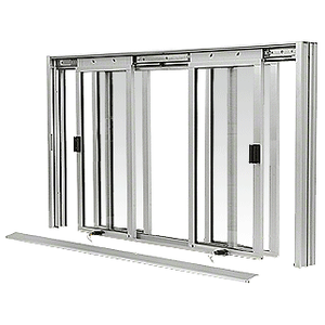 CRL DW5200A Satin Anodized DW Series Manual Deluxe Sliding Service Window XOX with Screen