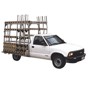 "CRL BR707 White 84"" x 86"" Steel Glass Rack for 1/2 Ton Pickup Trucks"
