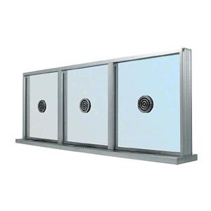 Satin Anodized Aluminum Standard Inset Frame Multi-Lite Window