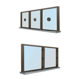 CRL S1SWDU Duranodic Bronze Aluminum Standard Inset Frame Multi-Lite Window