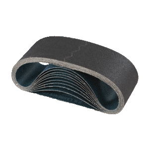 "CRL CRL3X21400X 3"" x 21"" 400X Grit Glass Grinding Belts for Portable Sanders - 10/Bx"