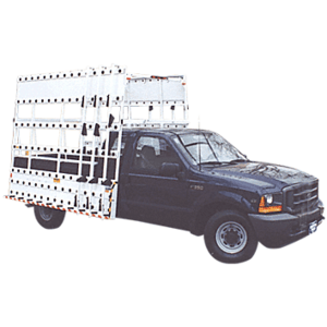 "CRL BR710 White 120"" x 86"" Steel Glass Rack for Club Cab Pickup Trucks"