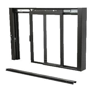 CRL SCDW1801DU Duranodic Bronze Self-Closing Deluxe Sliding Service Windows with Aluminum Half Bottom Track