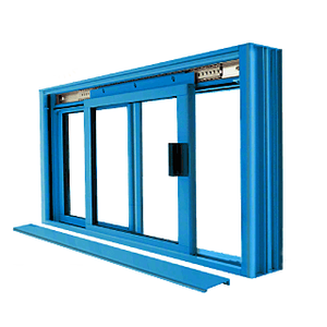 CRL DW1800P Custom Color Powder Painted DW Series Manual Deluxe Sliding Service Window OX or XO without Screen