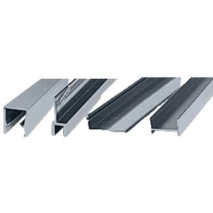"""Brushed Nickel Frameless Double """"MK"""" Series Sliding Shower Door Kit - 60"""" W x 60"""" H for 1/4"""" Glass"""
