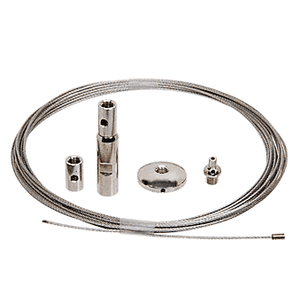"""CRL Y0001CR Floor to Ceiling Cable Kit for 1/4"""" to 3/8"""" Glass"""