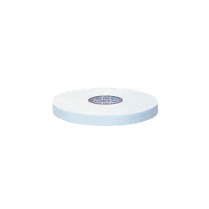 "CRL CRL210812 White 1/8"" x 1/2"" All-Purpose Foam Mounting Tape"